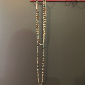 Long Wrap Beaded Necklace